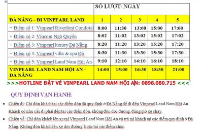 Lịch trình xe Bus Đà Nẵng Vinpearl Land Nam Hội An